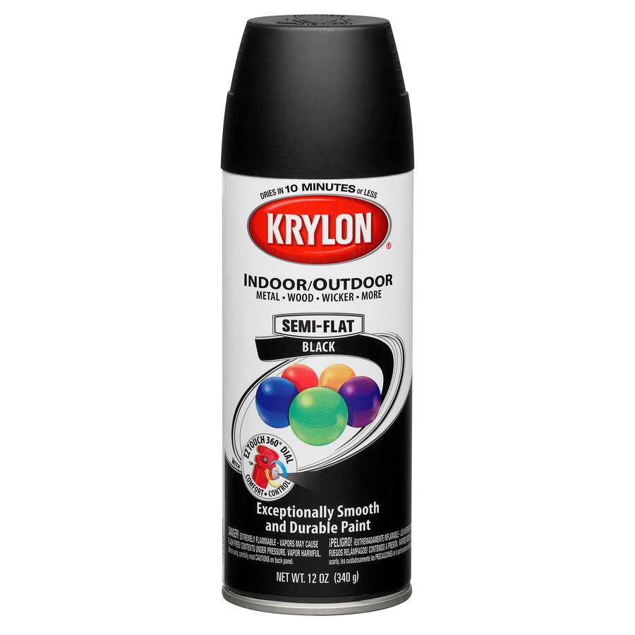 Shop Krylon 12 Oz Black Matte Spray Paint At
