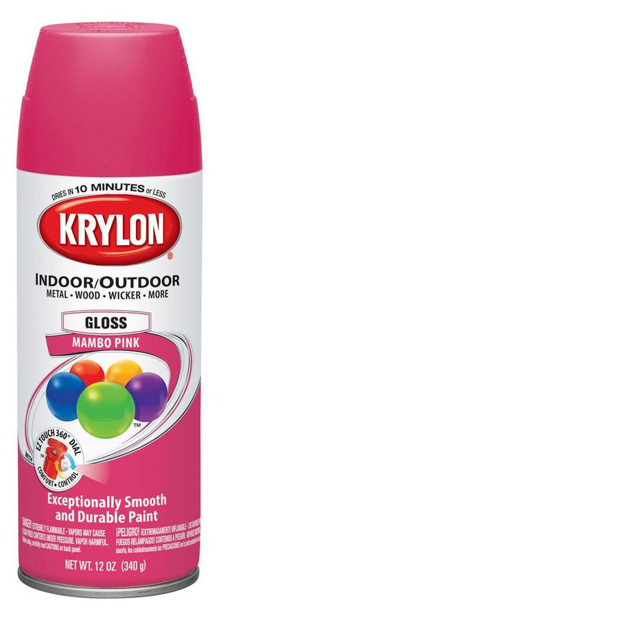 shop krylon 12 oz mambo pink gloss spray paint at