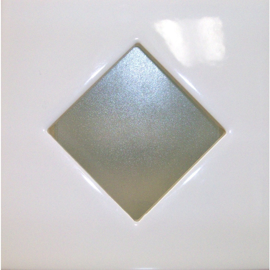 United States Ceramic Tile 4-in x 4-in Bright White Ceramic Square Accent Tile