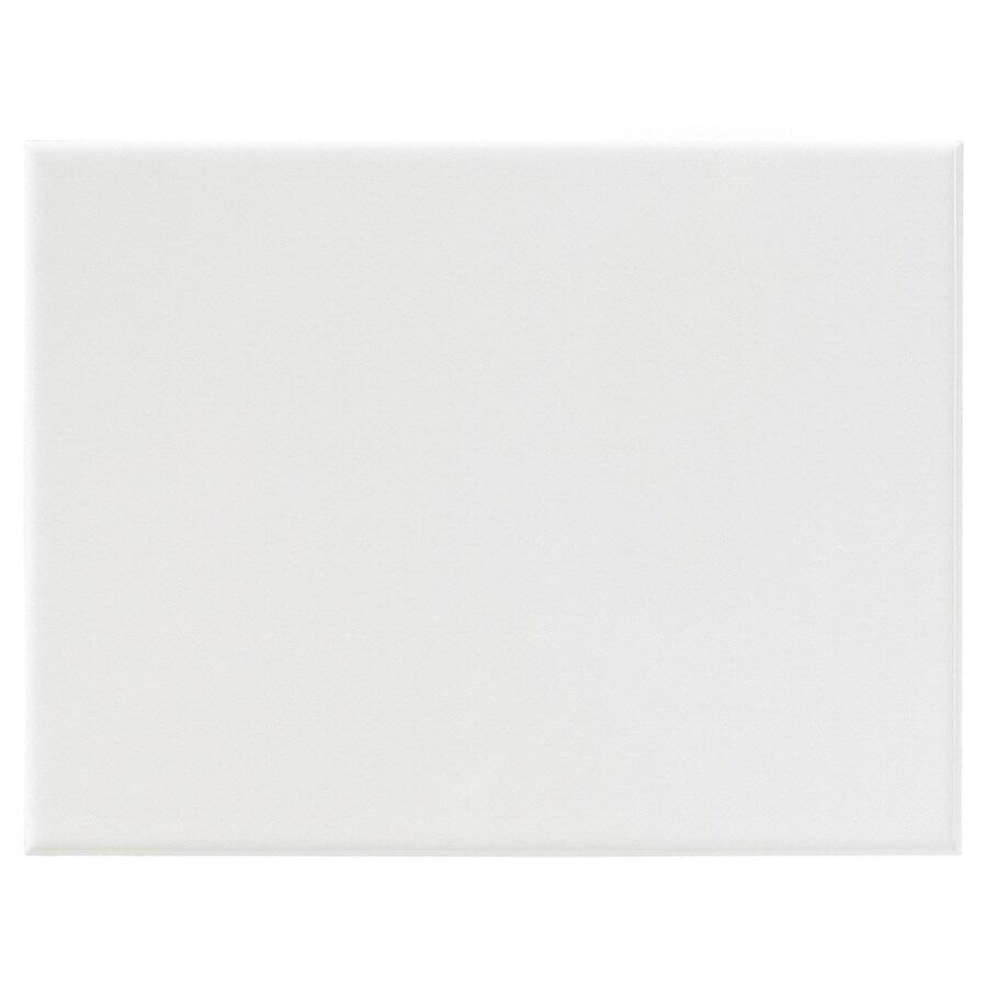 United States Ceramic Tile Color White Ceramic Wall Tile (Common: 6-in x 8-in; Actual: 8-in x 6-in)