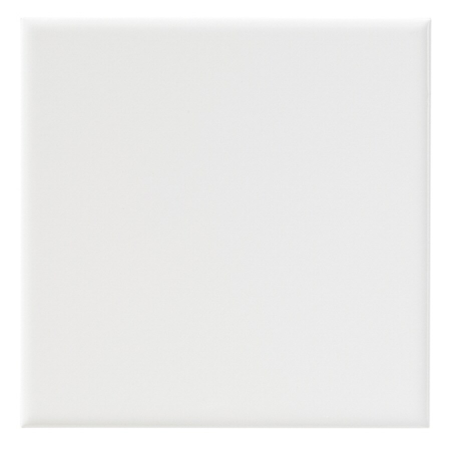 United States Ceramic Tile Color White Ceramic Wall Tile (Common: 6-in x 6-in; Actual: 6-in x 6-in)