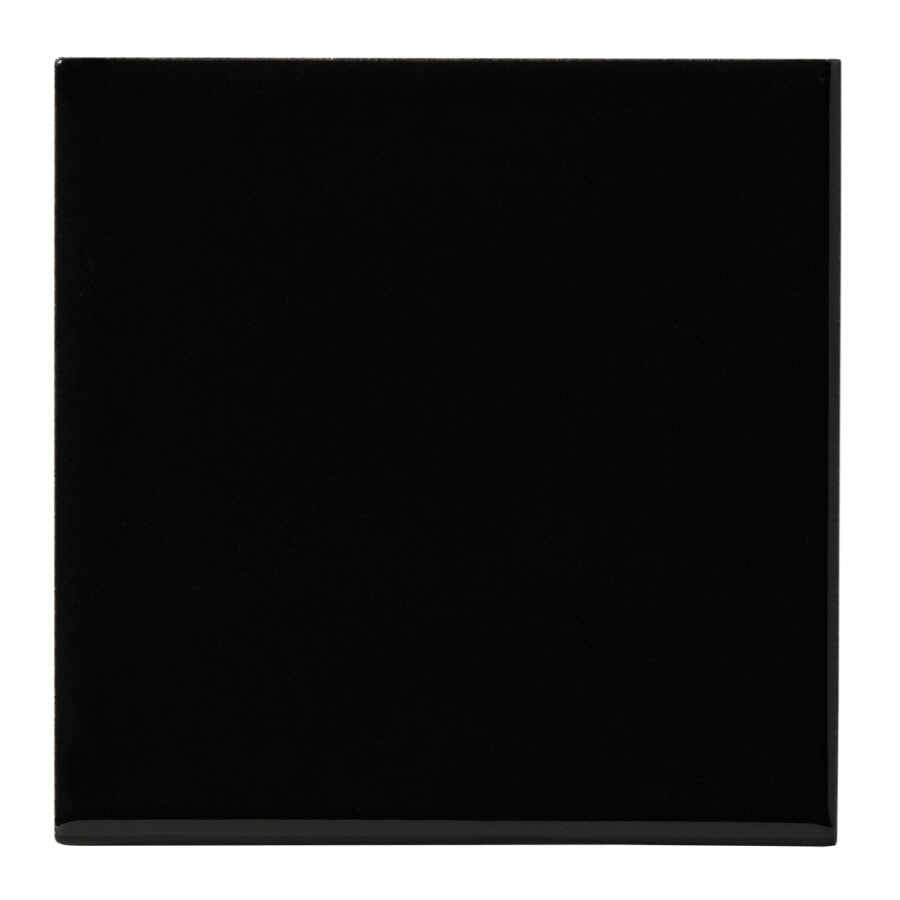 United States Ceramic Tile 4 In X Black Wall