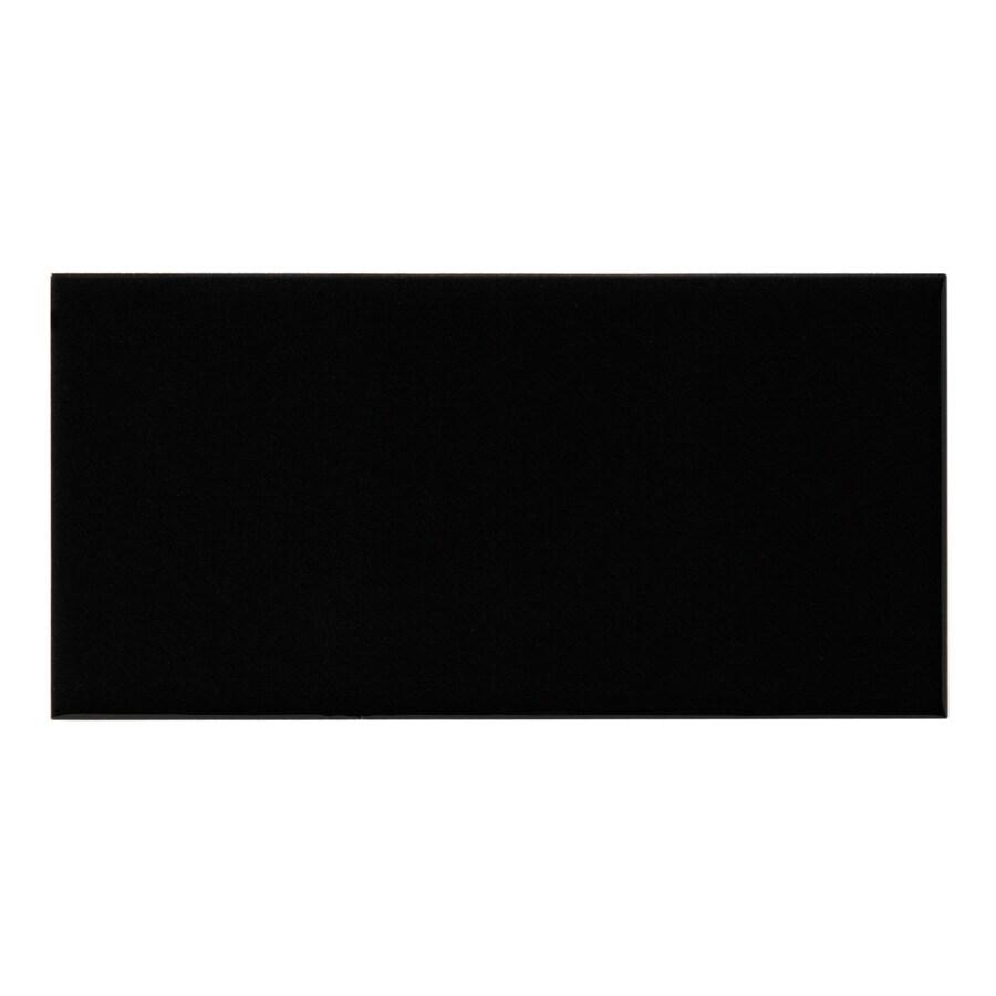 United States Ceramic Tile Color Black Ceramic Wall Tile (Common: 3-in x 6-in; Actual: 6-in x 3-in)