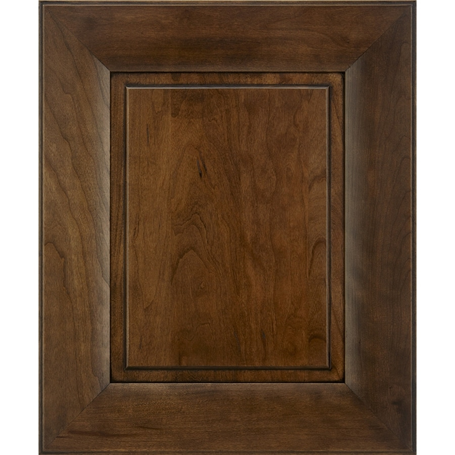 Shop Schuler Cabinetry Sorrento 17 5 In X 14 5 In Eagle Rock Sable Glaze Cherry Cabinet Sample