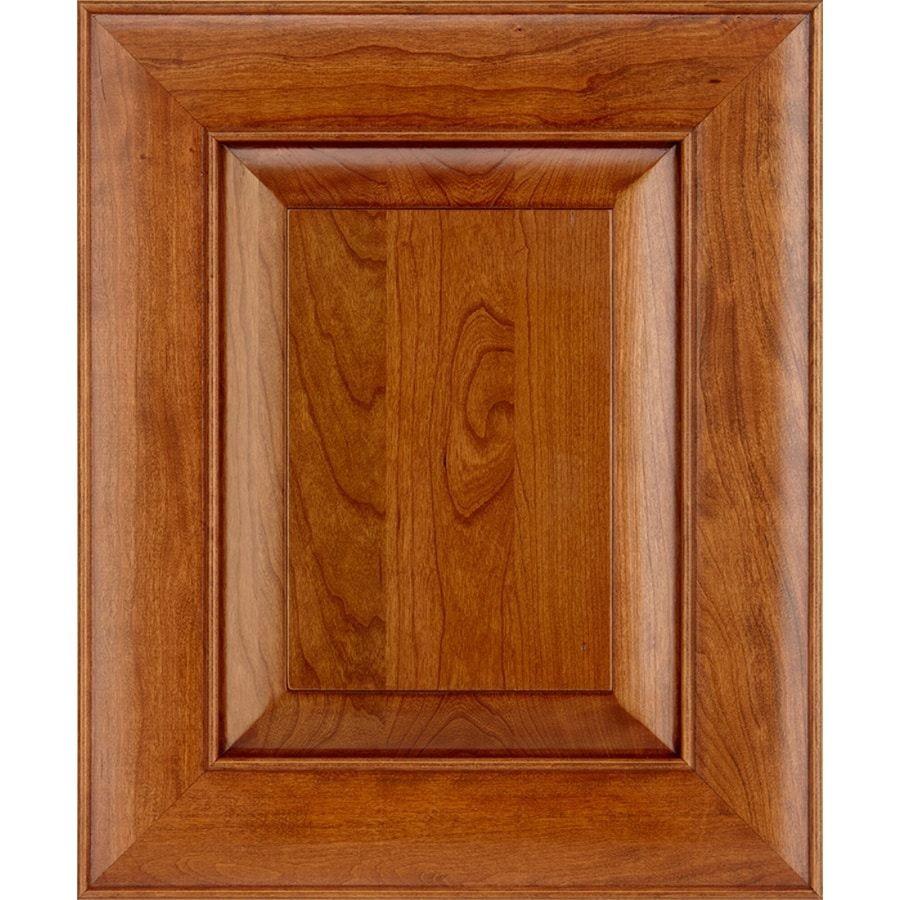 Schuler Cabinetry Verona 17.5-in x 14.5-in Pecan Cherry Square Cabinet Sample