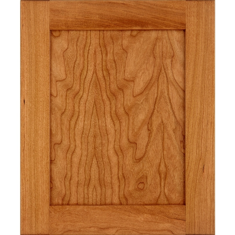Schuler Cabinetry Sugar Creek 17.5-in x 14.5-in Pecan Stained Cherry Shaker Cabinet Sample