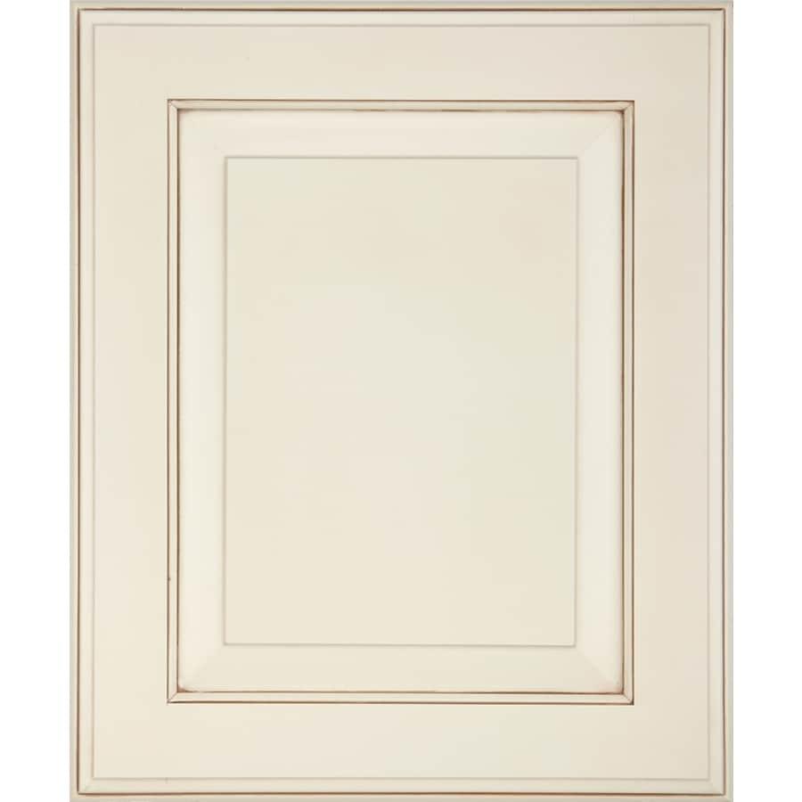 Schuler Cabinetry Hampton 17.5-in x 14.5-in Morel Glazed Burnt Sienna Maple Square Cabinet Sample