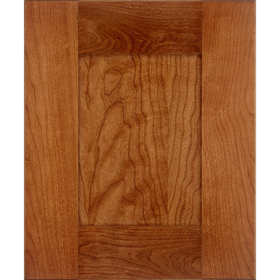 Schuler Cabinetry Manhattan 17.5-in x 14.5-in Chestnut Stained Cherry Shaker Cabinet Sample