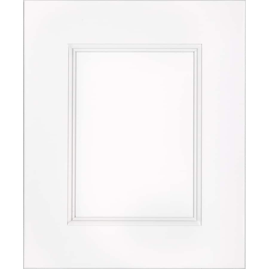 Schuler Cabinetry New Haven 17.5-in x 14.5-in White Icing Maple Cabinet Sample