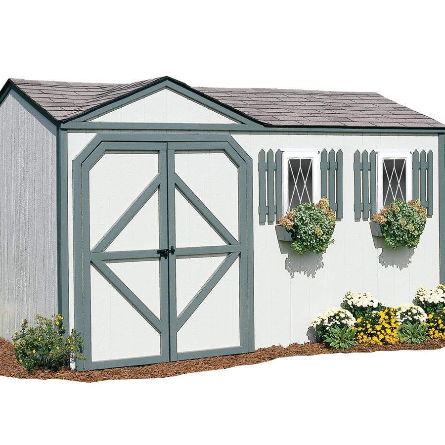 shop backyard organizer 14 ft x 8 ft wood storage shed at lowes com