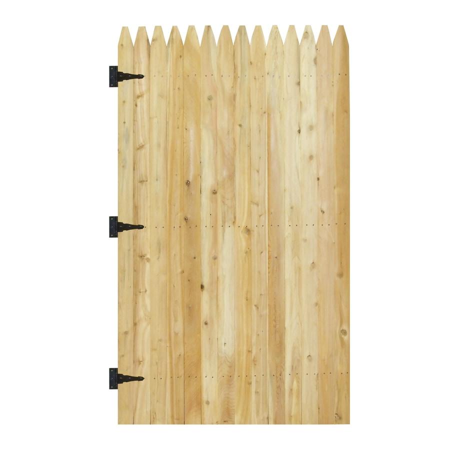 Shop 6 ft x 333 ft White Cedar Stockade Wood Fence Gate at Lowescom