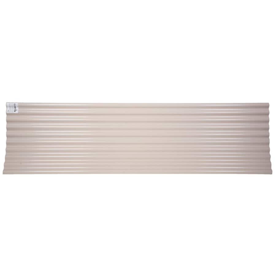 Shop Tuftex SeaCoaster 2.17-ft x 12-ft Corrugated PVC Roof Panel at Lowes.com
