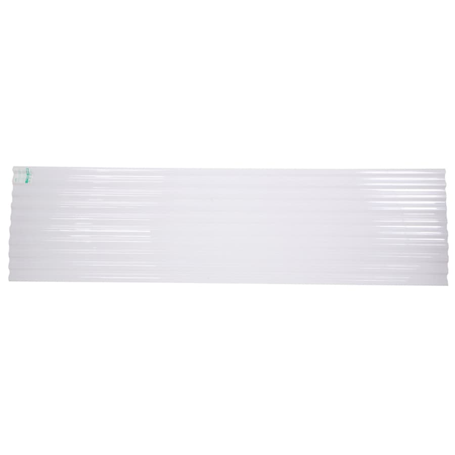 Tuftex PolyCarb 2.17-ft x 8-ft Corrugated PolyCarbonate Plastic Roof Panel