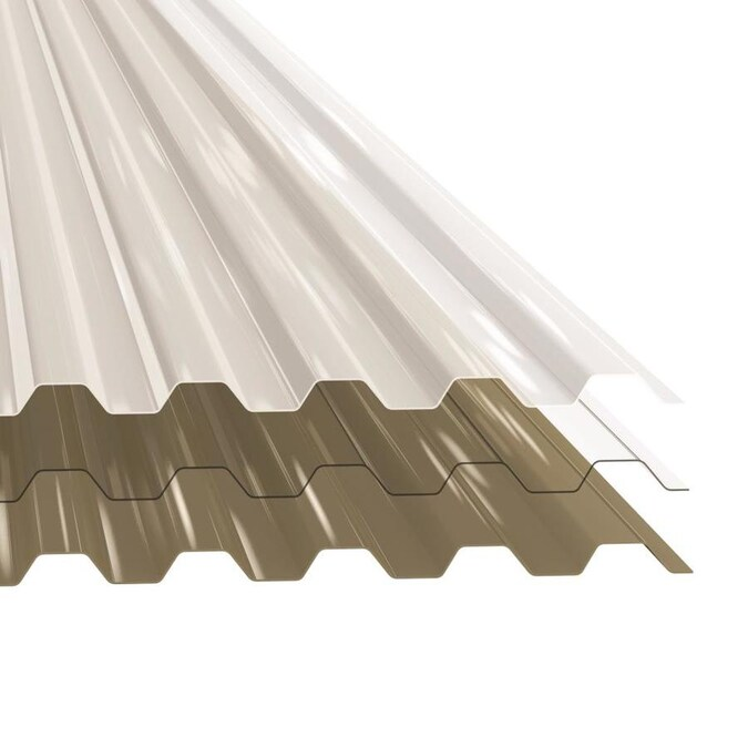 Tuftex Polycarb 12 Ft X 2 17 Ft Corrugated White Polycarbonate Plastic Roof Panel In The Roof Panels Department At Lowes Com