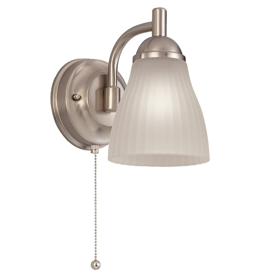 Portfolio Brushed Nickel Bathroom Vanity Light