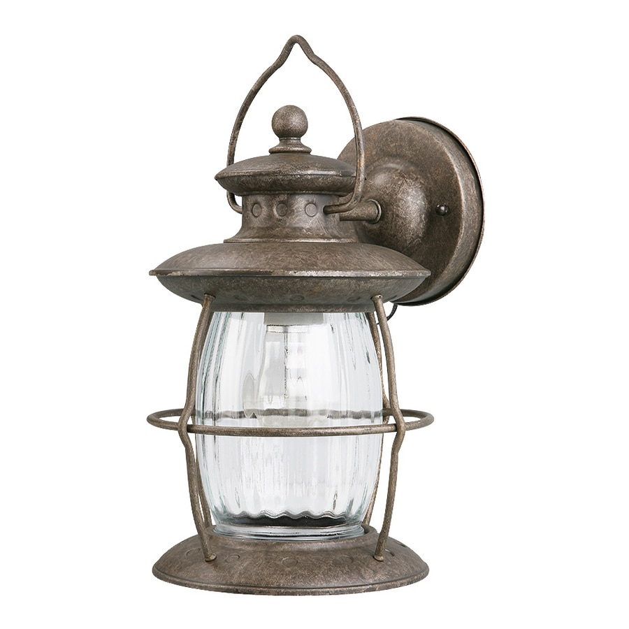 Portfolio 12-5/8-in Antique Pewter Outdoor Wall Light