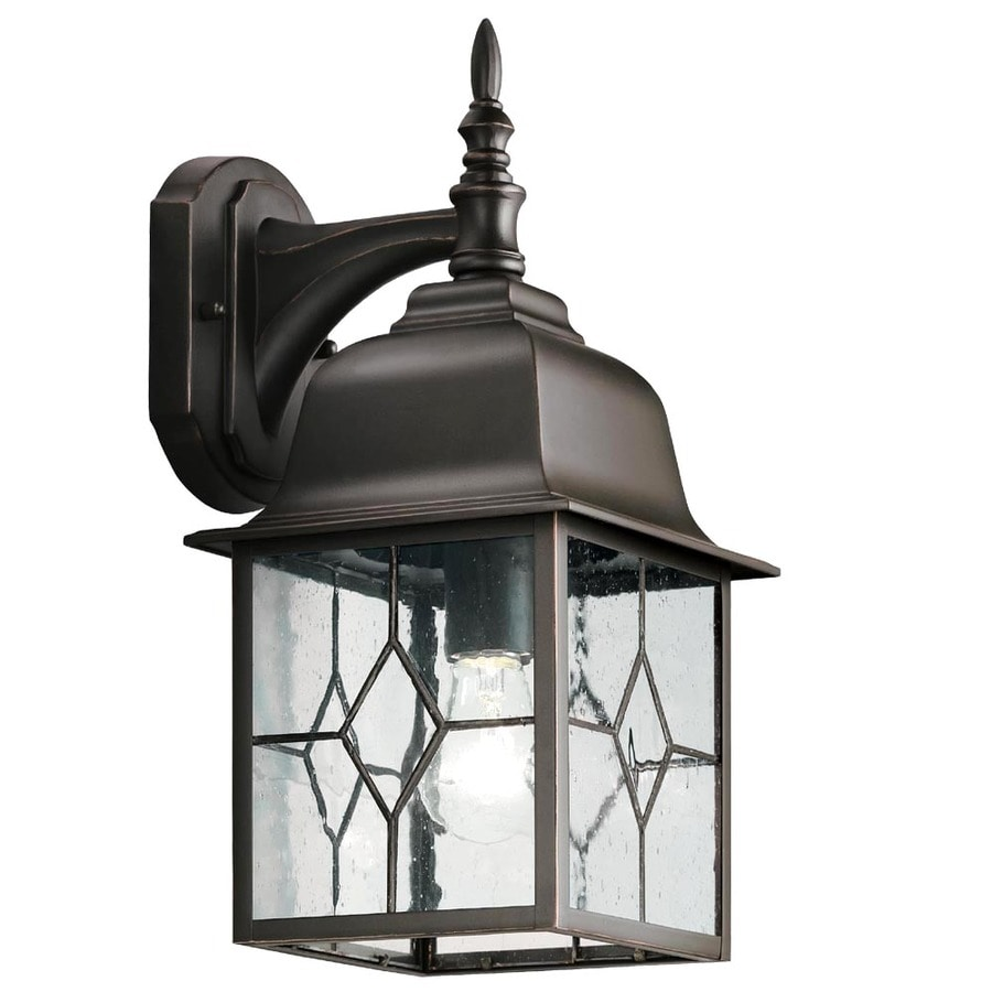 Wall Lamps Exterior : Shop Portfolio Litshire 15.62-in H Oil-Rubbed Bronze Outdoor Wall Light at Lowes.com