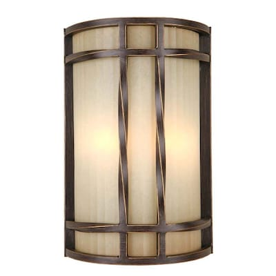 8 In W 2 Light Antique Bronze Wall Sconce