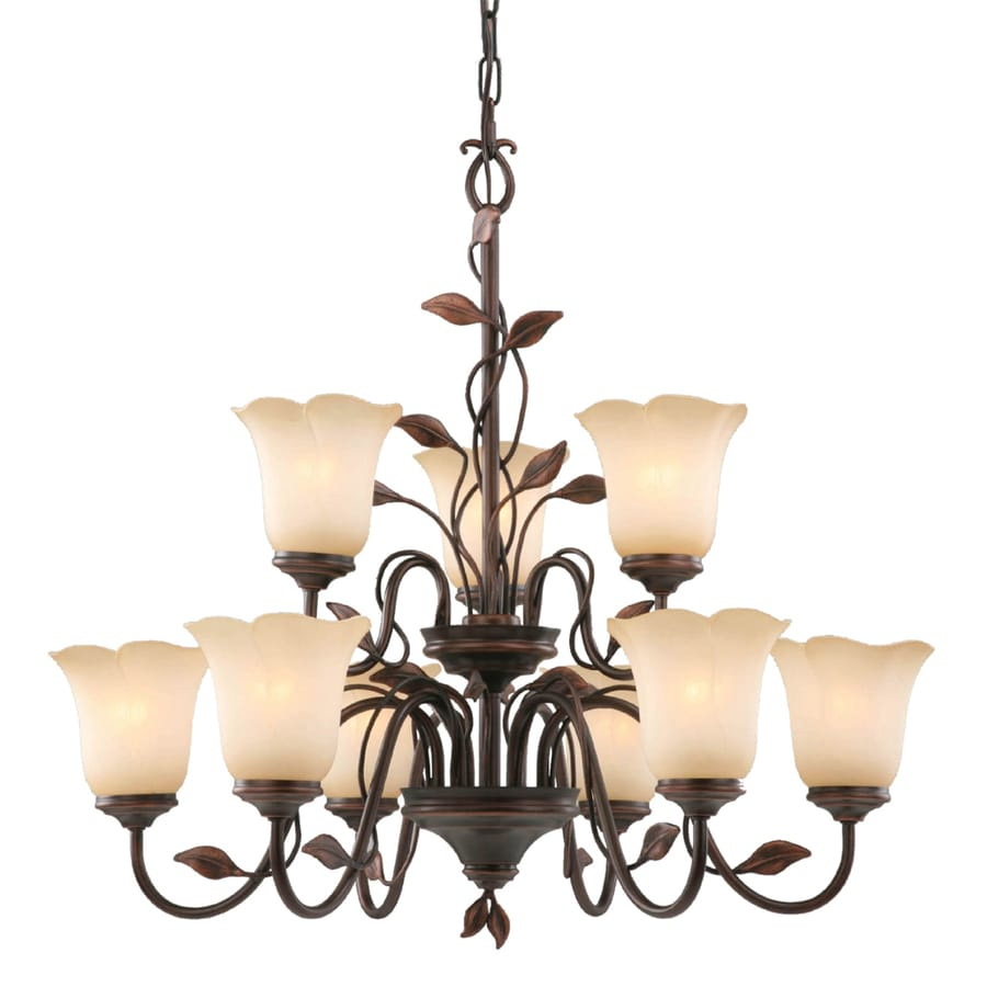 allen + roth Eastview 9-Light Dark Oil-Rubbed Bronze Chandelier - Shop Allen + Roth Eastview 9-Light Dark Oil-Rubbed Bronze