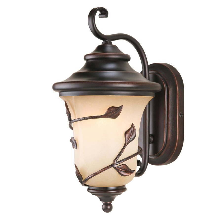 allen + roth Eastview 14-7/8-in Dark Oil-Rubbed Bronze Outdoor Wall Light