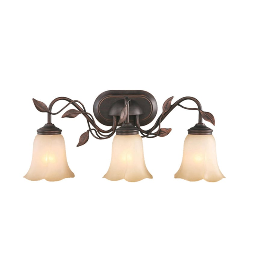 Shop allen + roth 3-Light Eastview Dark Oil-Rubbed Bronze Bathroom ...