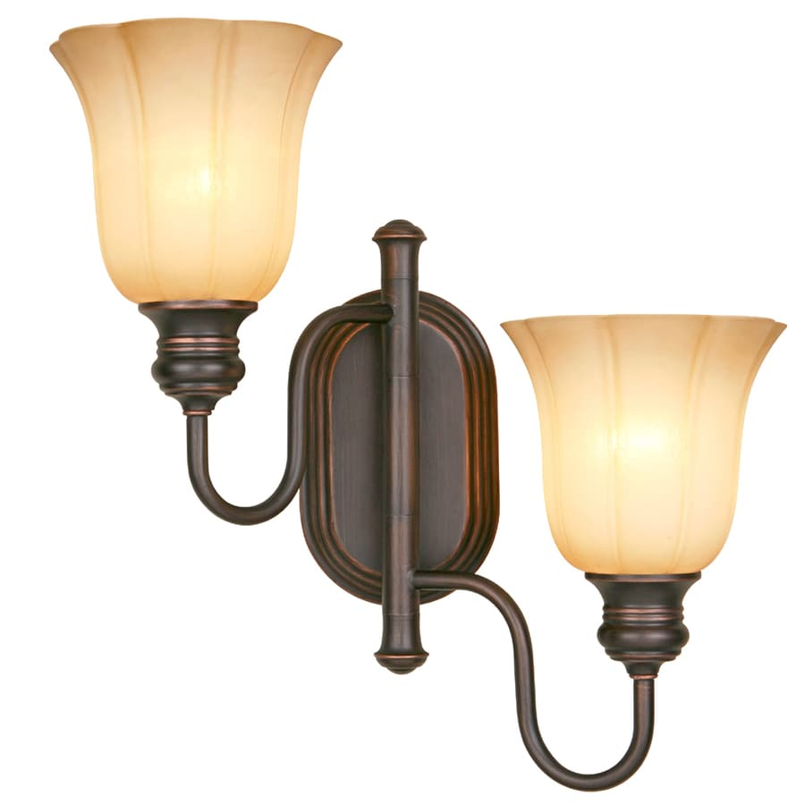 Allen Roth 15 In W 2 Light Dark Oil Rubbed Bronze Swing