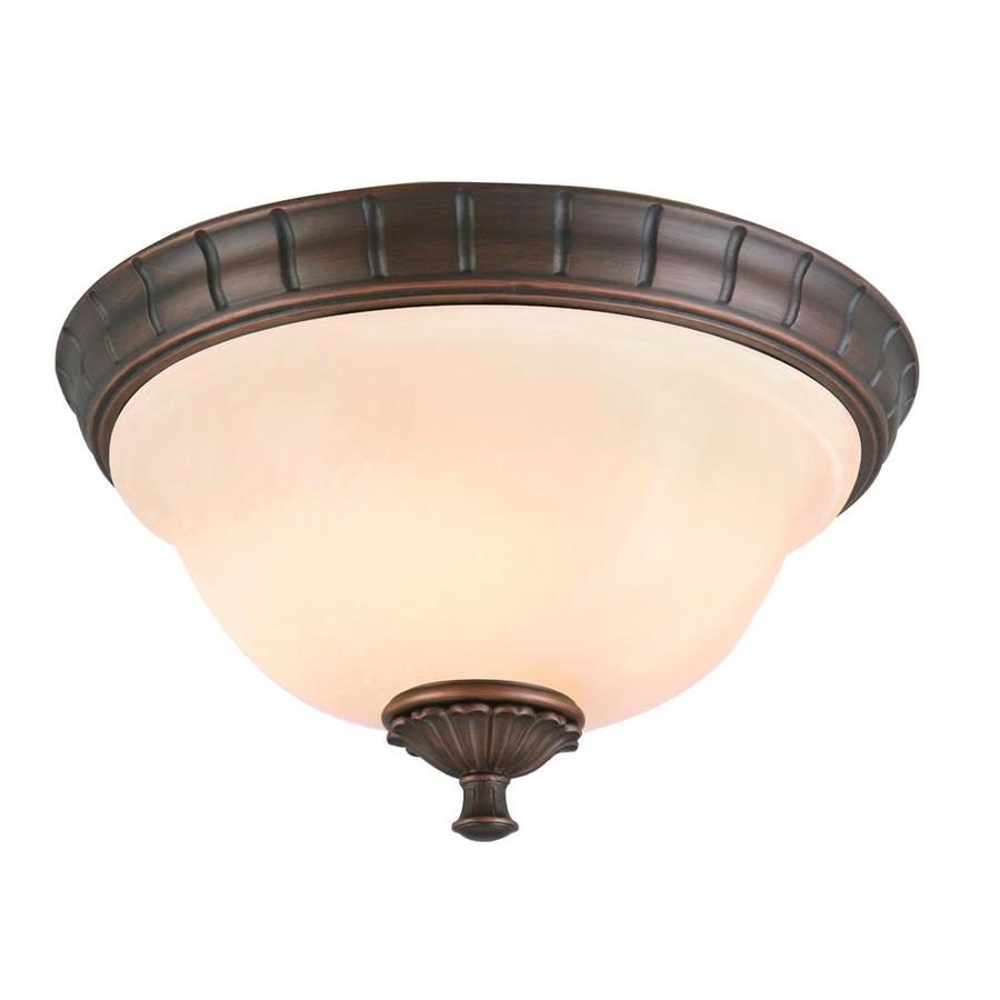 Portfolio Colton Lakes 13.25-in W Oil Rubbed Bronze Flush Mount Light