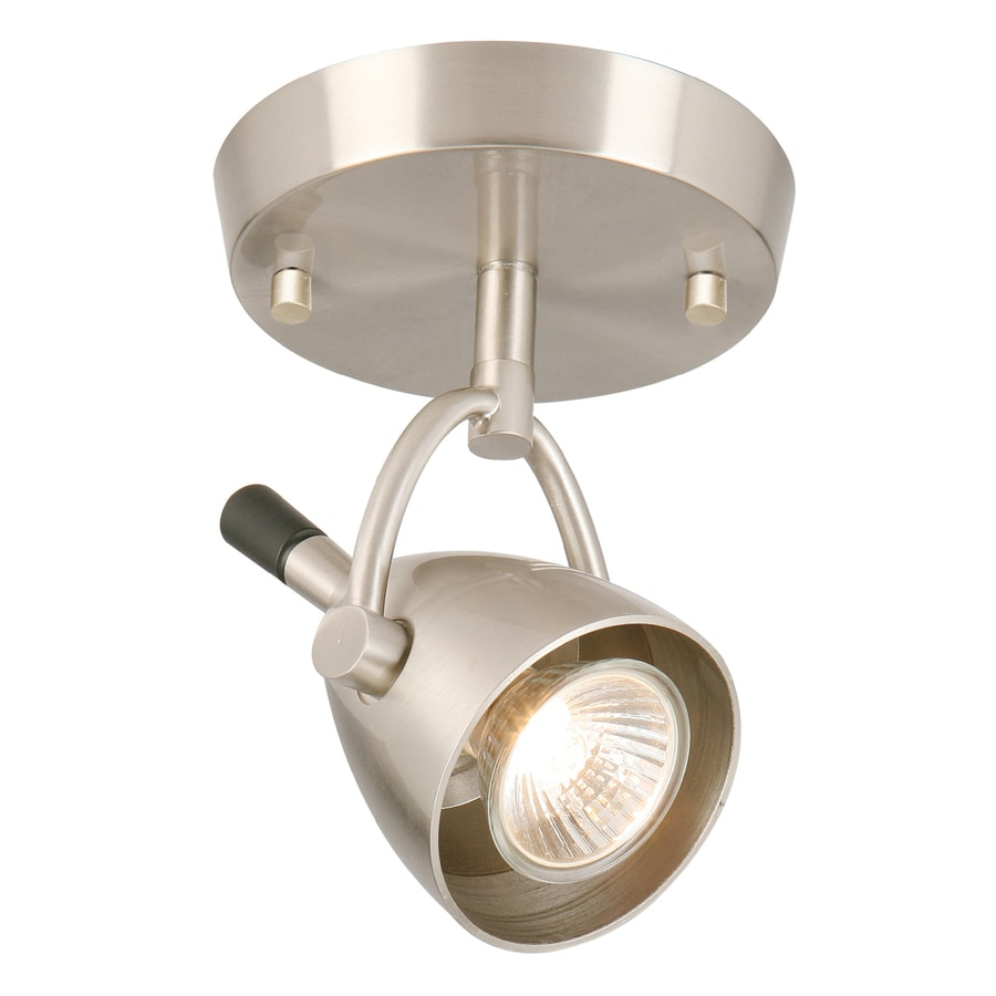 Style Selections 5-in Brushed Nickel Flush Mount Fixed Track Light Kit