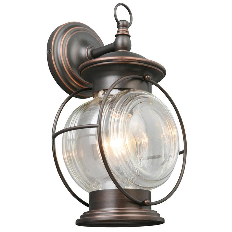 Portfolio Caliburn 13.62-in H Oil-Rubbed Bronze Outdoor Wall Light