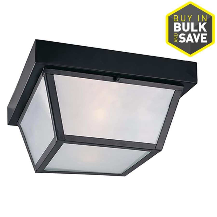 Shop portfolio 1037 in w black outdoor flush mount light at lowes portfolio 1037 in w black outdoor flush mount light aloadofball Image collections