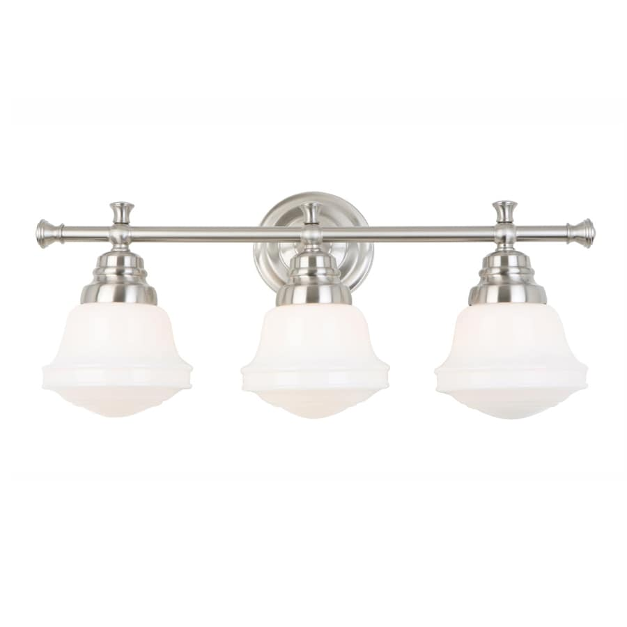 Shop allen + roth 3-Light Brushed Nickel Bathroom Vanity Light at ...