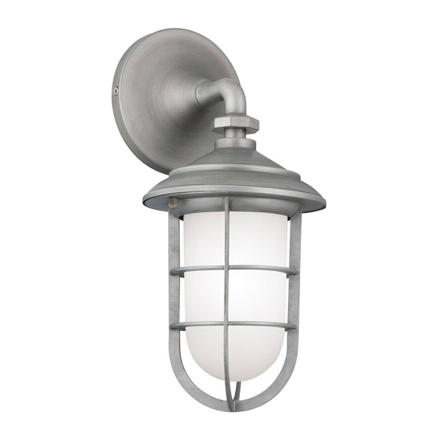 Uk Light Industrial Portfolio: Portfolio 14.5-in H Brushed Pewter Outdoor Wall Light At