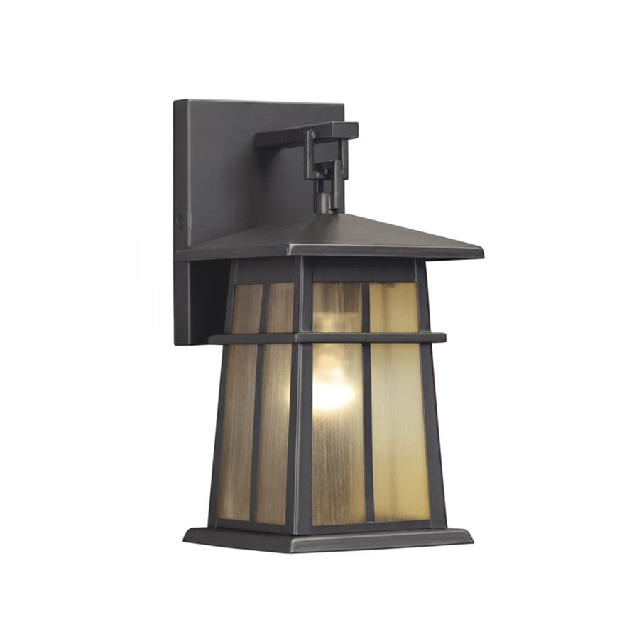 Shop Portfolio Amberset 10.5-in H Specialty Bronze Outdoor