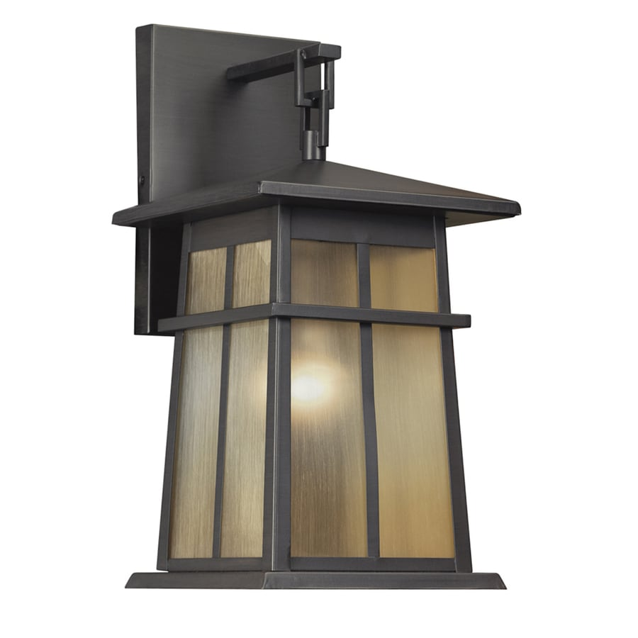 Portfolio Amberset 16.75-in H Specialty Bronze Outdoor Wall Light