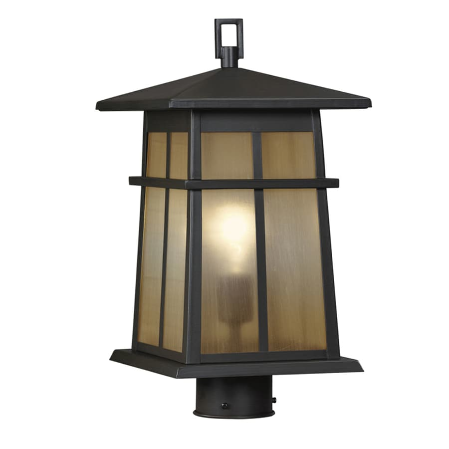 Portfolio Amberset 16.25-in H Specialty Bronze Post Light  sc 1 st  Loweu0027s & Shop Portfolio Amberset 16.25-in H Specialty Bronze Post Light at ...