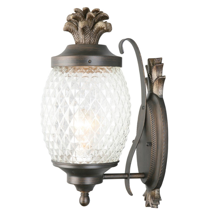 Shop Portfolio 1525 in H Brushed Bronze Outdoor Wall Light at