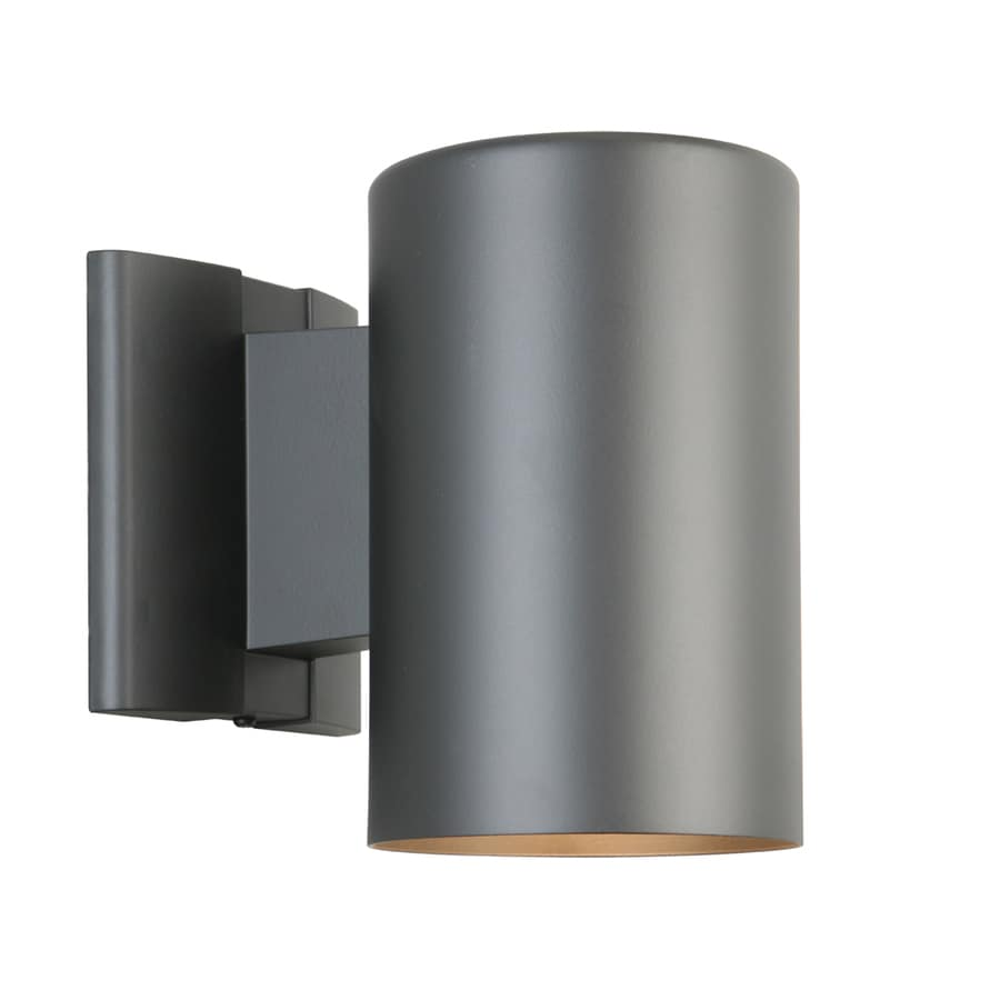 Shop portfolio 7 in h matte black dark sky outdoor wall light at portfolio 7 in h matte black dark sky outdoor wall light aloadofball Choice Image