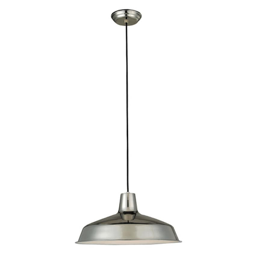 Project Source 15.87-in Chrome Mini Pendant