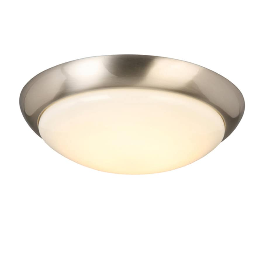 shop project source 13 in w brushed nickel led flush mount light