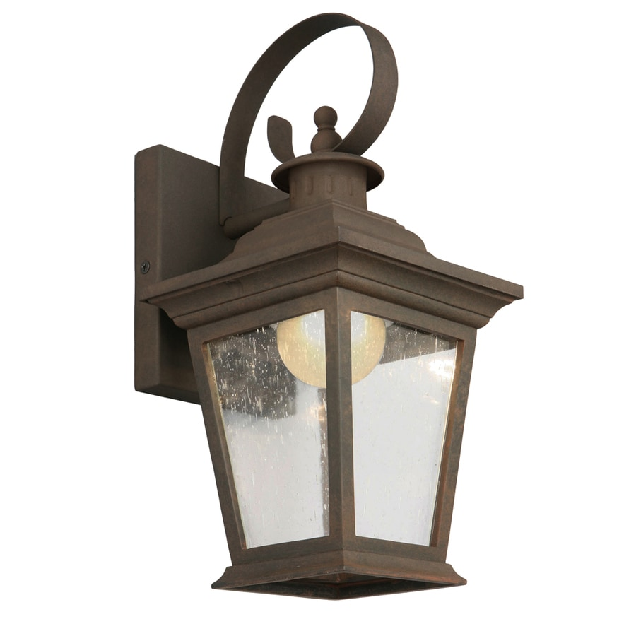 Shop Portfolio 13 in H Rust Dark Sky LED Outdoor Wall Light ENERGY