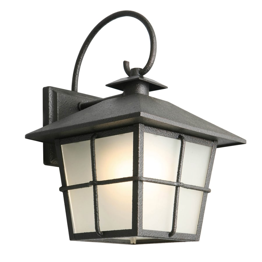 Portfolio 11.75-in H Black Led Outdoor Wall Light ENERGY STAR