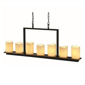 Allen Roth Harpwell 7 Light Oil Rubbed Bronze Traditional Tinted Gl Shaded Chandelier