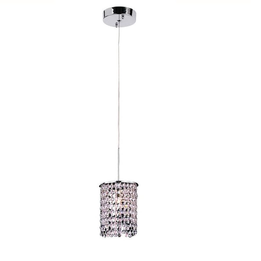 Style Selections 5.59-in Chrome Crystal Mini Crystal Cylinder Pendant