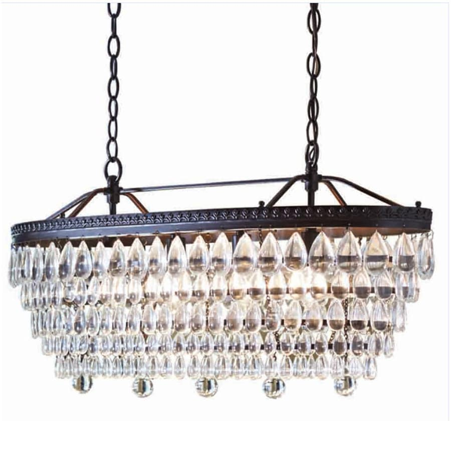 allen + roth Eberline 11.81-in 4-Light Oil-Rubbed Bronze Crystal Tiered - Shop Chandeliers At Lowes.com