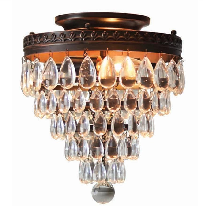 Shop allen roth eberline 906 in w oil rubbed bronze flush mount allen roth eberline 906 in w oil rubbed bronze flush mount light arubaitofo Choice Image