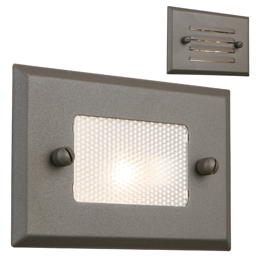 shop portfolio 7 watt bronze low voltage halogen step deck light at