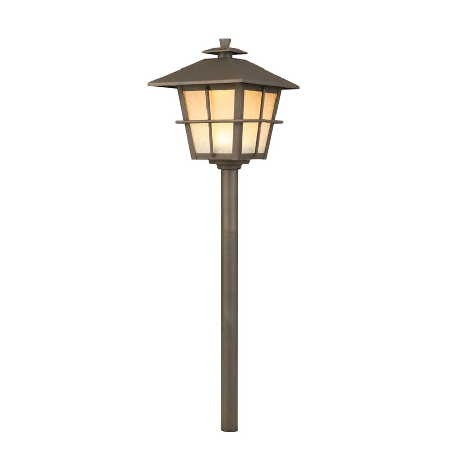 shop portfolio 4 watt specialty textured bronze low voltage led path