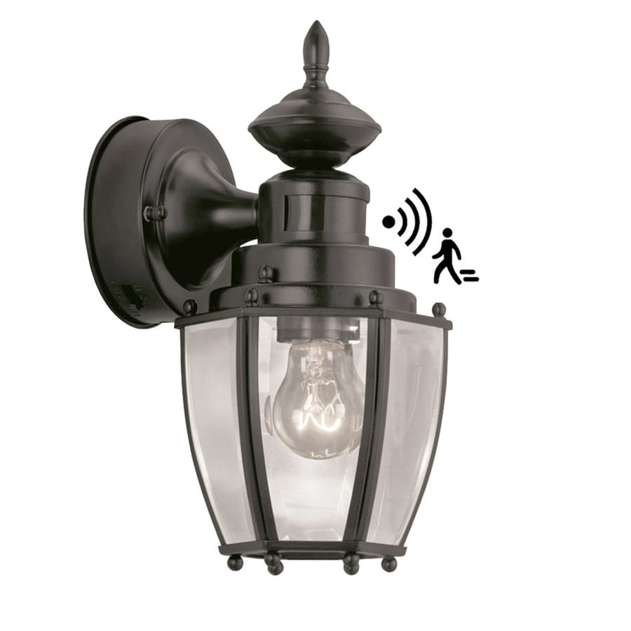 Shop portfolio 1175 in h black motion activated outdoor wall light portfolio 1175 in h black motion activated outdoor wall light aloadofball