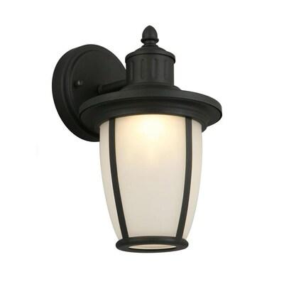 11 In H Matte Black Led Outdoor Wall Light Energy Star