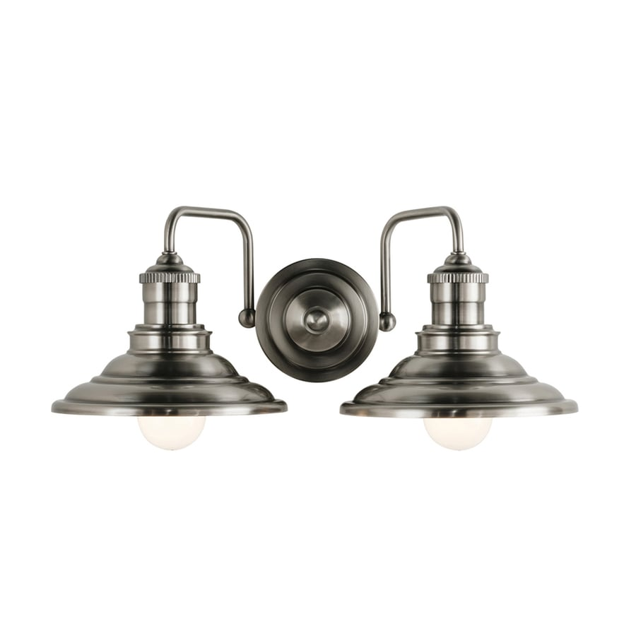 Allen Roth Hainsbrook 2 Light Pewter Industrial Vanity Light In The Vanity Lights Department At Lowes Com